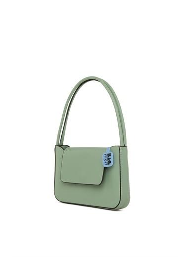 Bagmori  Kadın Çift Askılı Kapaklı Kalıp Baget M000006055 Yeşil
